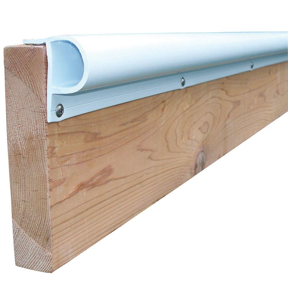 Dock Edge 8 ft. Small P Profile Dock Bumper in White (3-Pack)