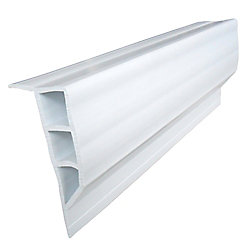 Dock Edge Butoir à face plane, 24 pi/boîte, blanc