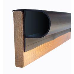Dock Edge Single P Profile Dock Bumper in Black, 32 ft/carton