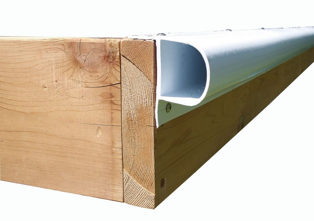 Single P Dock Bumper Profile, White (32 Feet/Carton - 4 x 8 Feet lengths per carton)