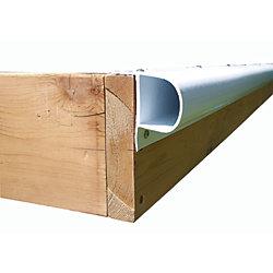 Dock Edge 8 ft. Single P Profile Dock Bumper in White (4-Pack)