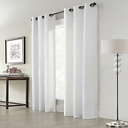 Home Decorators Collection Everett Room Darkening Grommet Curtain 40 inches width X 84 inches length, White