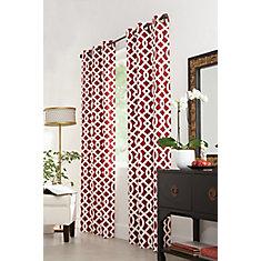 Panneau à œillets, rouge, 40 x 84