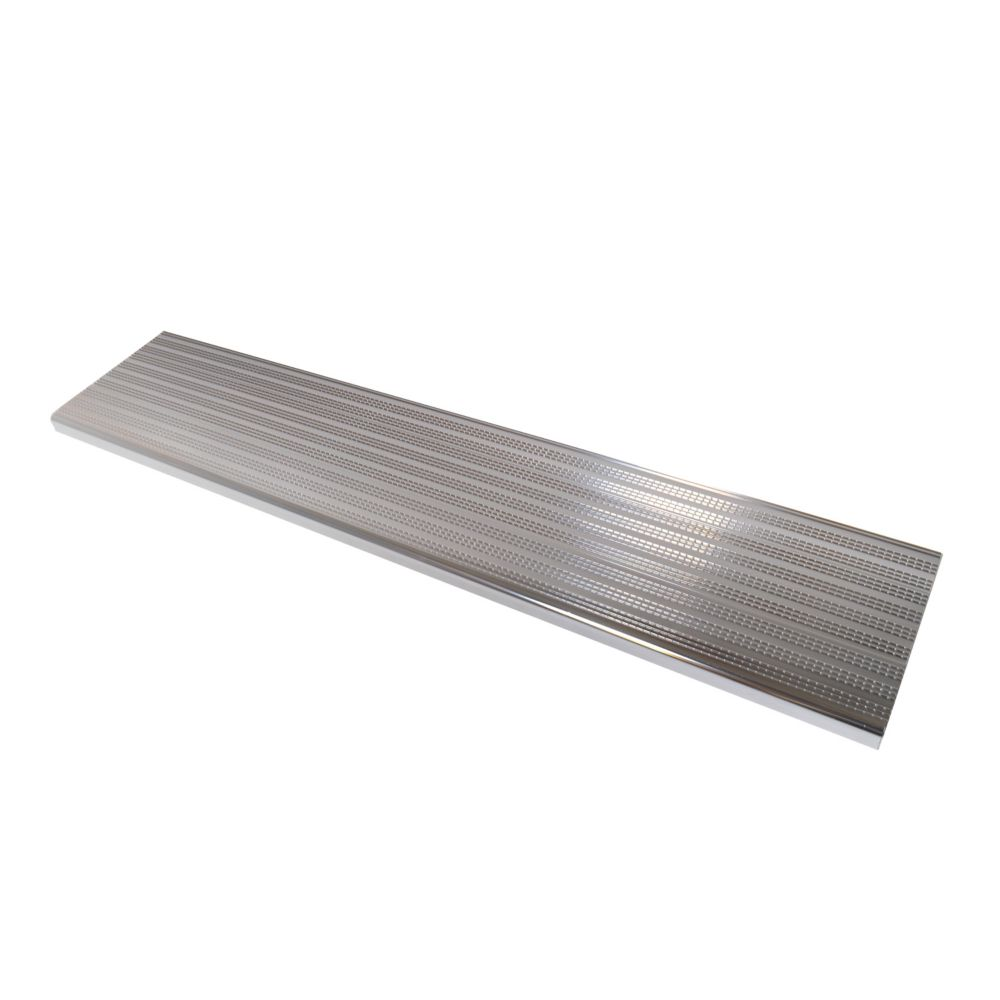 Pylex Collection 10_Aluminium Stair Tread Shiny Anodised - 48 in x 9 ¾ in