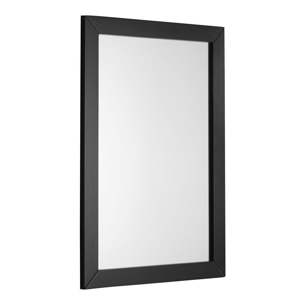 Chelsea 20 Inch x 30 Inch Black Bath Vanity Décor Mirror