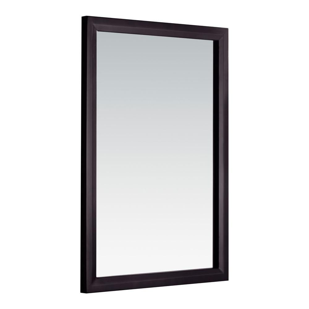 Urban Loft 20 Inch x 30 Inch Espresso Brown Vanity Decor Mirror