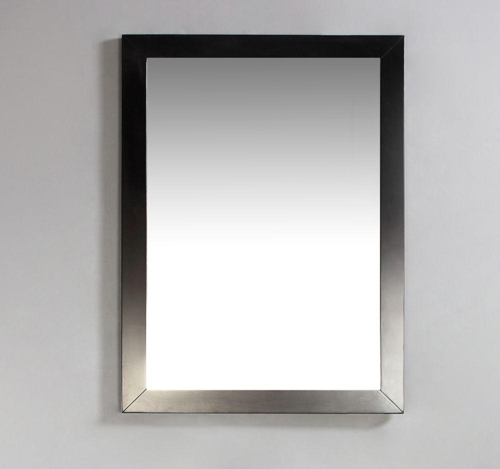 Burnaby 20 Inch x 30 Inch Espresso Brown Bath Vanity Décor Mirror