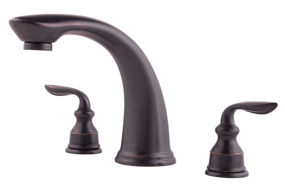 Pfister Avalon 2 Handle Roman Tub Trim In Tuscan Bronze The Home Depot Canada