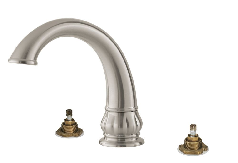 pfister treviso 2 handle roman bath faucet in brushed nickel finish