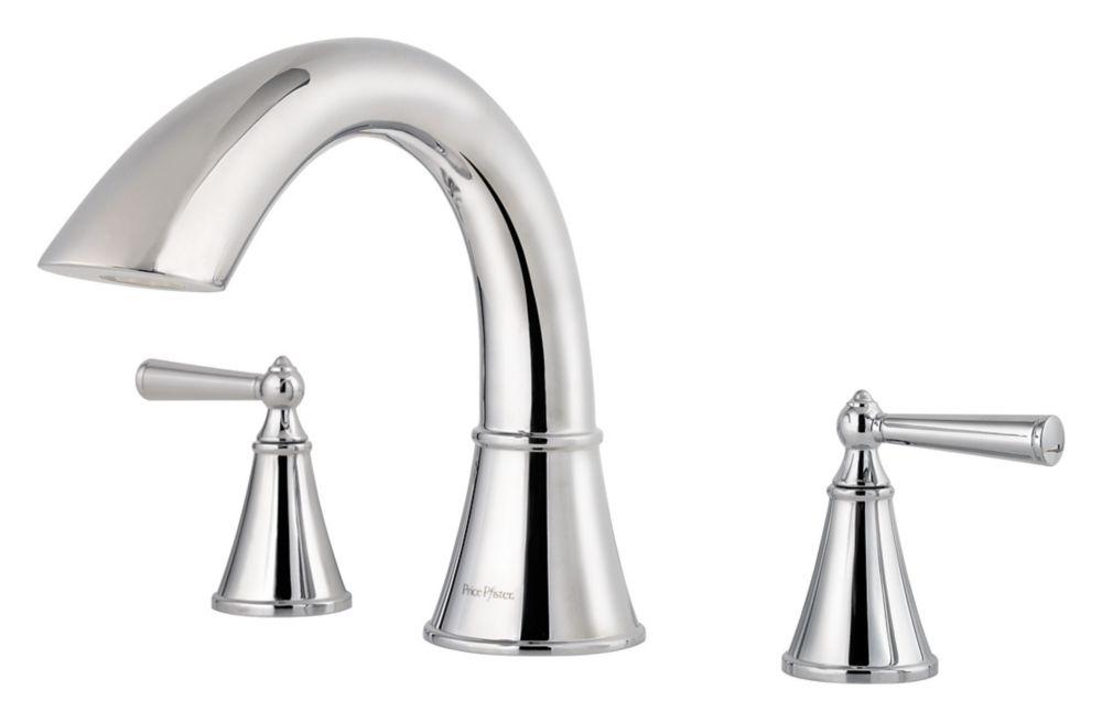 Saxton 2-Handle Roman Bath Faucet in Polished Chrome Finish