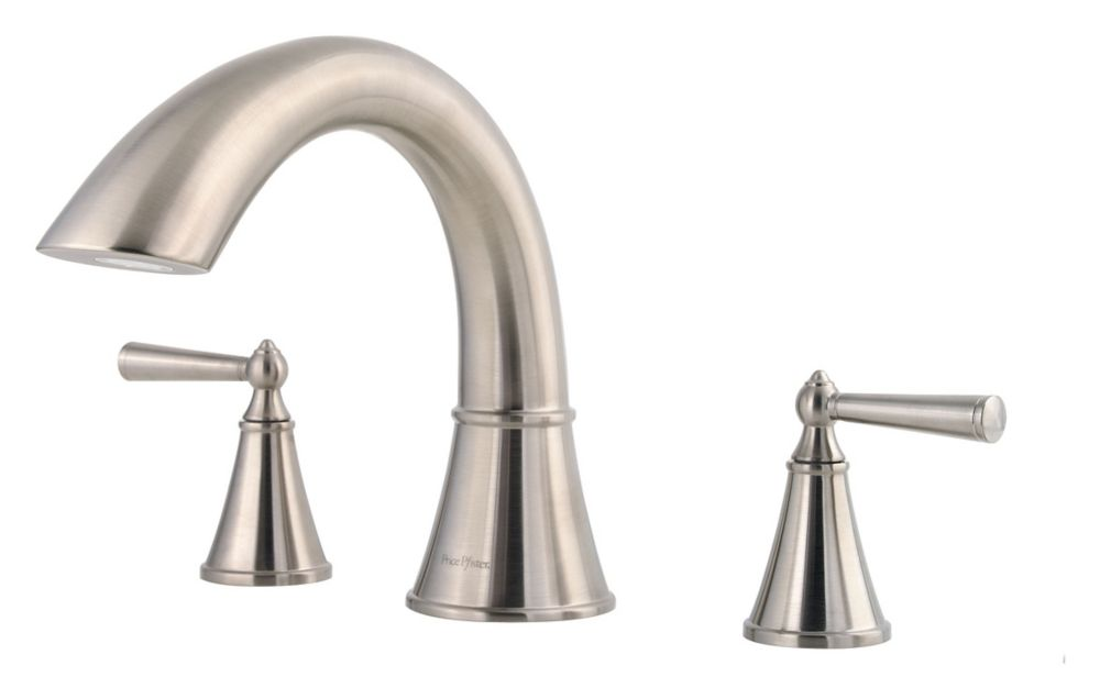 Saxton 2-Handle Roman Bath Faucet in Brushed Nickel Finish