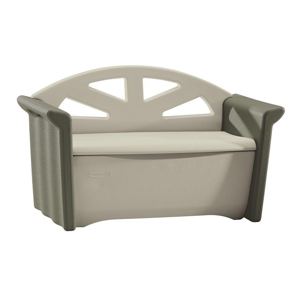 rubbermaid banc de rangement pour patio home depot canada. Black Bedroom Furniture Sets. Home Design Ideas