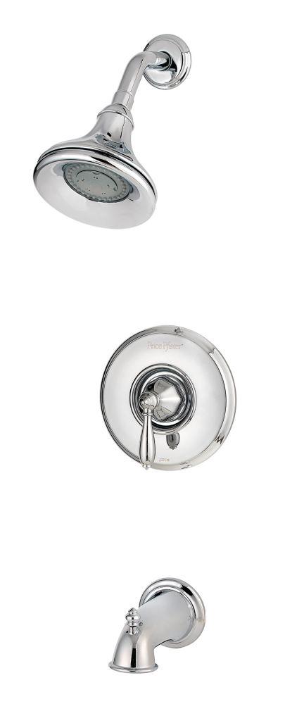 Robinetterie Portola pour baignoire/douche à 1 poignée, fini Chrome poli