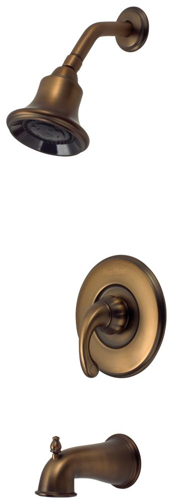 Treviso Single-Handle Bath/Shower Faucet in Velvet Aged Bronze