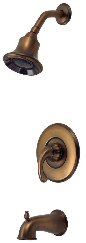 Treviso Single-Handle Bath/Shower Faucet in Velvet Aged Bronze