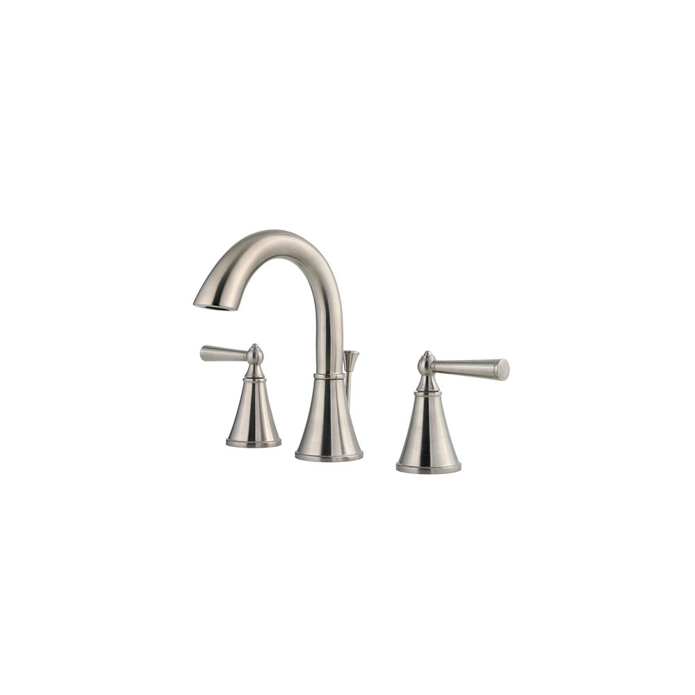 Pfister saxton 2 handle high arc 8 inch widespread for 8 bathroom faucet in brushed nickel