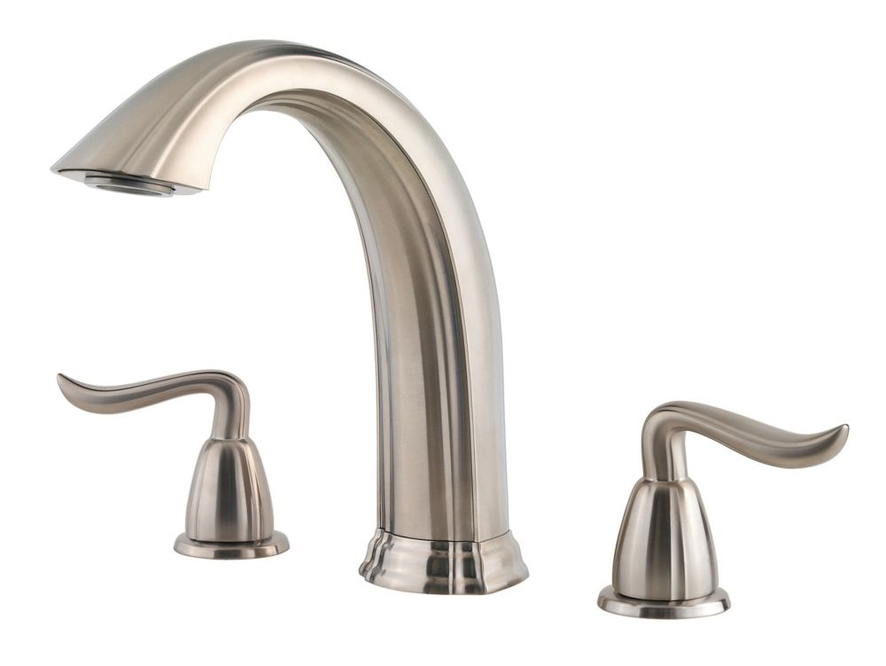 Santiago 2-Handle Roman Bath Faucet in Brushed Nickel Finish