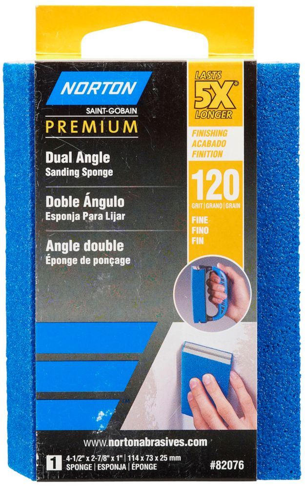 Sponge 5X Premium Dual Angle 4-1/2 Inch x2-7/8 Inch x1 Inch  120g
