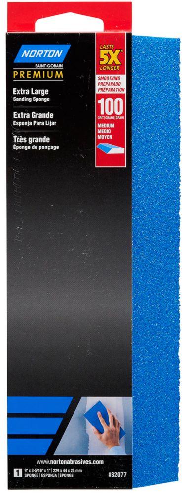 Éponge Extra Large Premium 5X grain 100 Moyen - Emballage 1