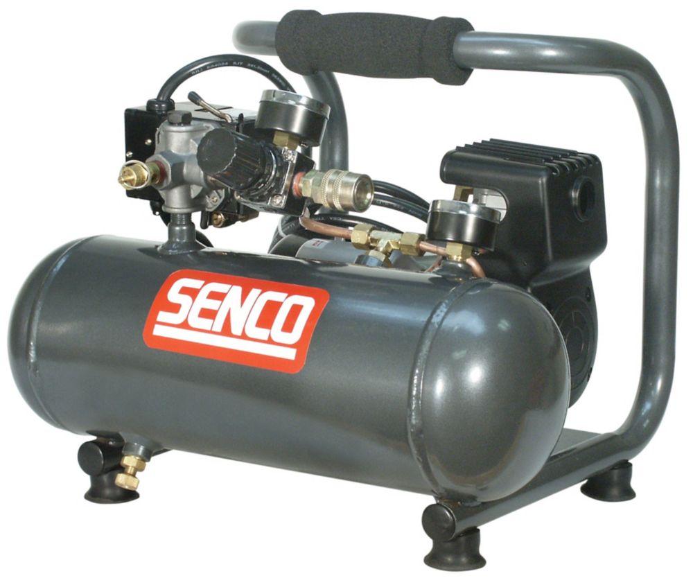 Senco  Compresseur électrique sans huile de 1,0 hp (de pointe), ½ hp (courant) PC1010