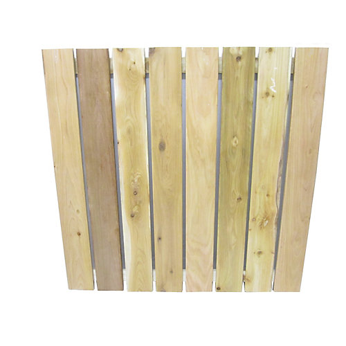 Cedar 4 Feet x4 Feet  Section