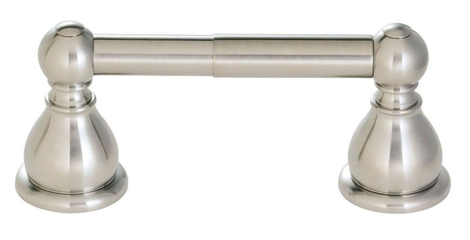 Conical Double-Post Toilet Paper Holder in Brushed Nickel