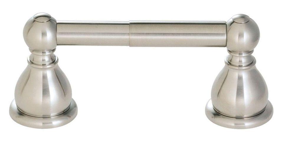 Porte-rouleau de papier hygiénique Conical à deux bases, fini Nickel brossé