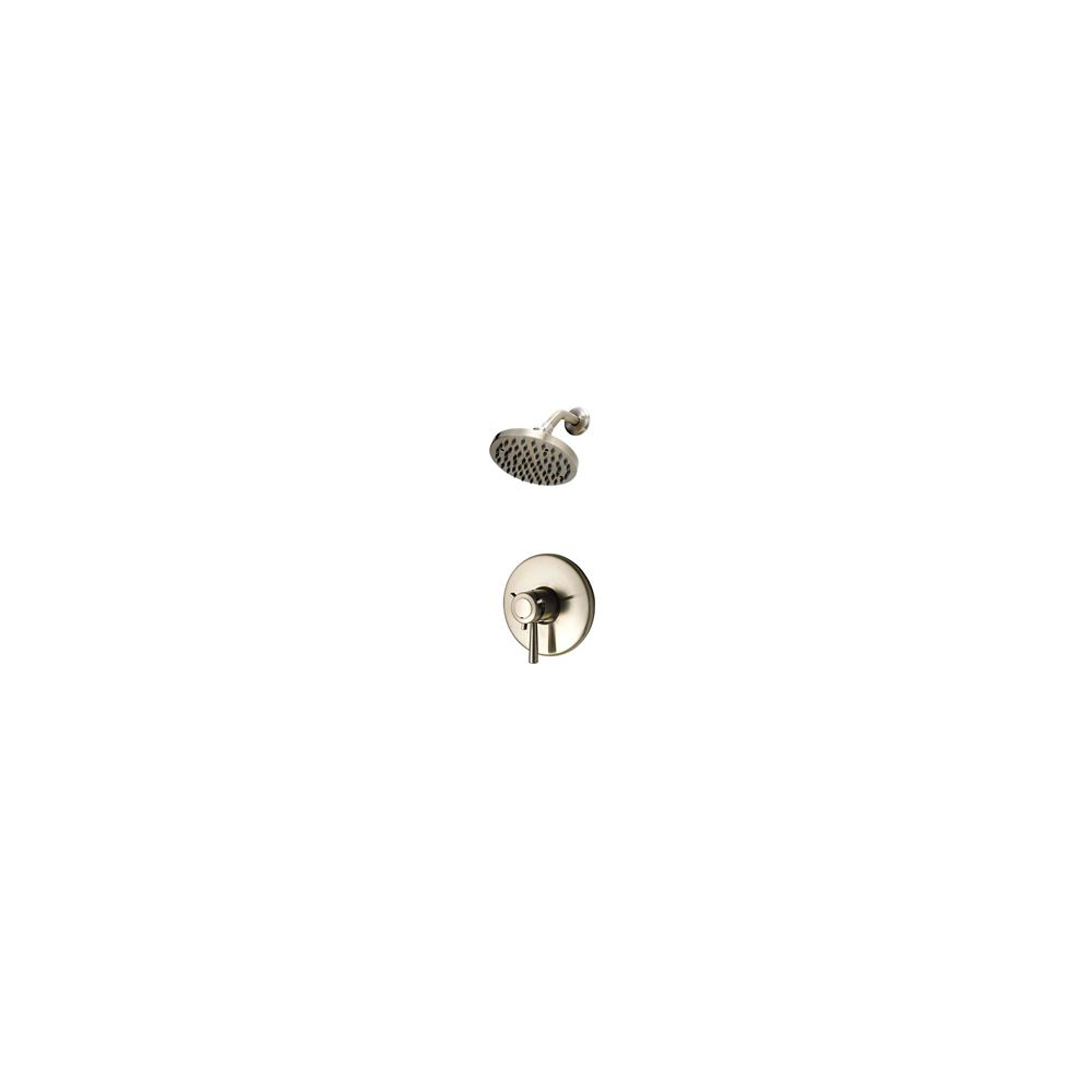 Universal Single-Handle Shower Faucet in Brushed Nickel