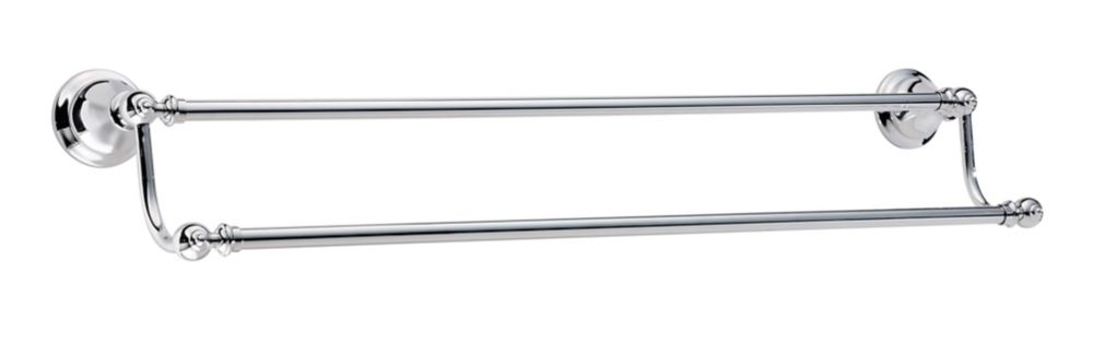 Catalina 24 inch Double Towel Bar in Polished Chrome