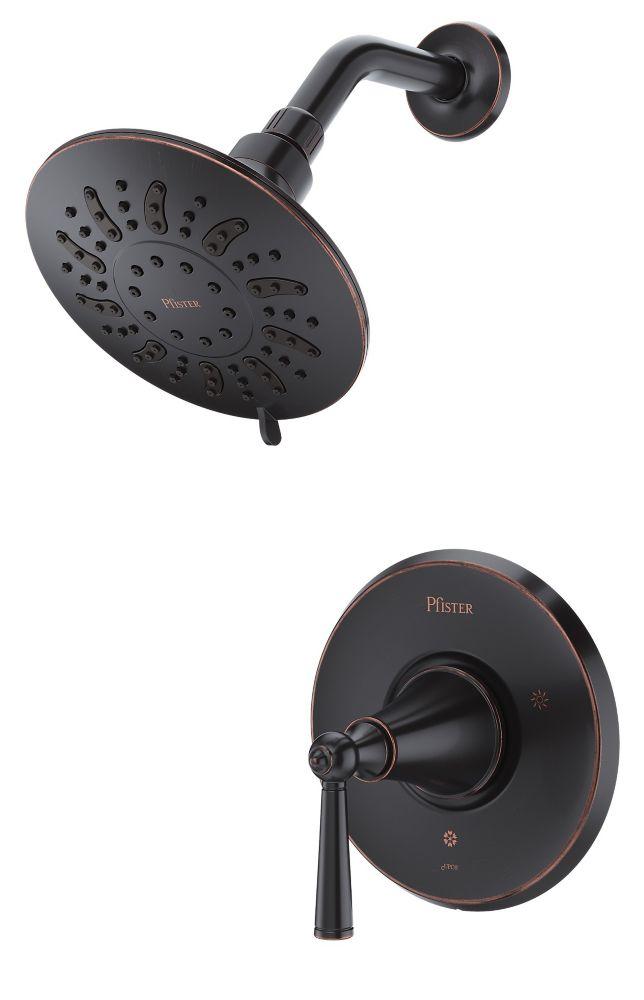 Robinetterie Saxton pour douche seulement à 1 poignée, fini Bronze toscan