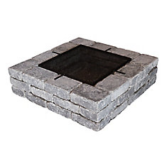 Oasis Square Fire Pit in Charcoal