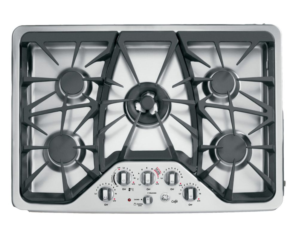 Café 30-inch Built-In Deep-Recessed Gas Cooktop in Stainless Steel