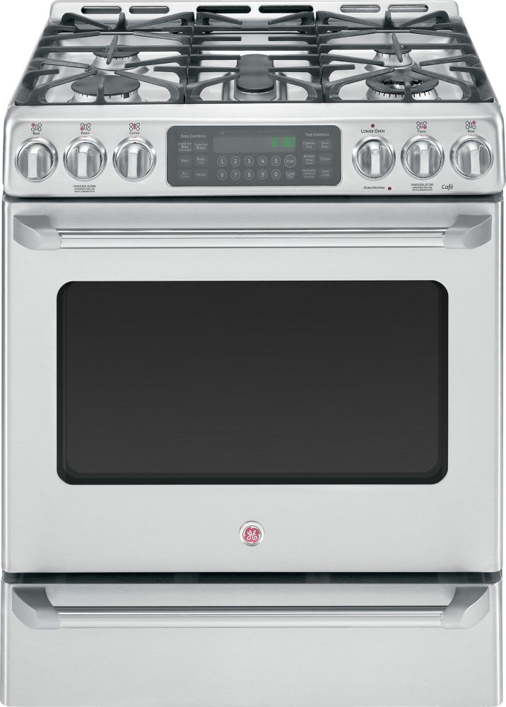Café 5.4 cu. ft. Free-Standing Dual-Fuel Convection Range With Baking Drawer in Stainless Steel
