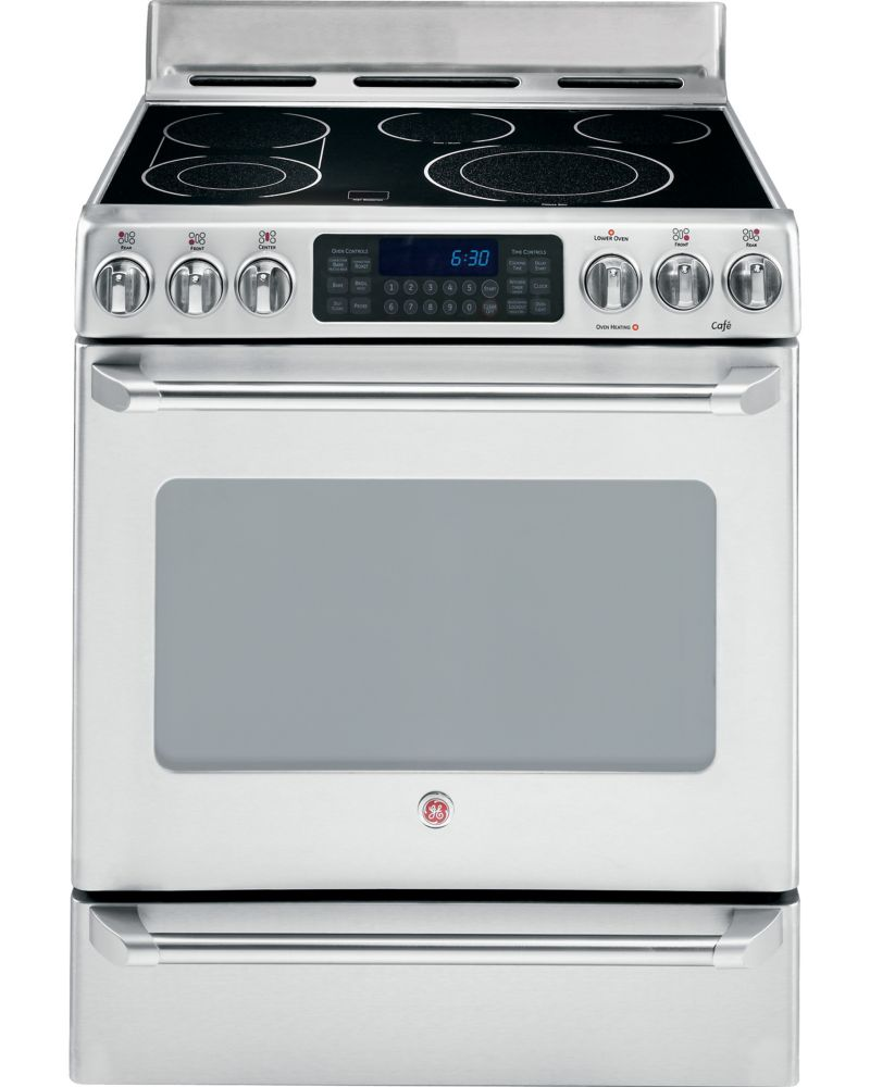 Café 5.0 cu. ft. Free-Standing Electric Self-Cleaning Convection Range in Stainless Steel
