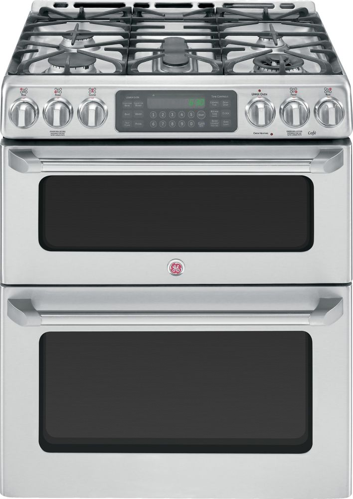 Café 6.7 cu. ft. Free-Standing Double Oven Gas Convection Self-Cleaning Range in Stainless Steel