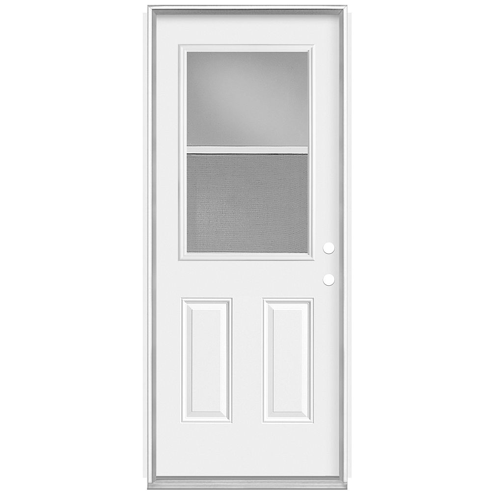 Masonite 32-inch x 80 x 7 1/4-inch Venting 1/2-Lite Low-E Left Hand Door - Energy Star