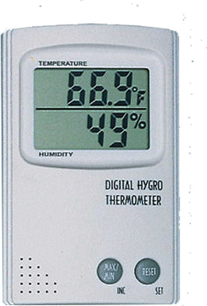 Digital Temperature And Humidity Monitor With Min/Max  F/C