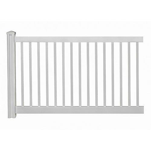 Panneau de clôture de jardin en vinyle de première qualité de 4pi H x 7pi L avec poteau et capuchon