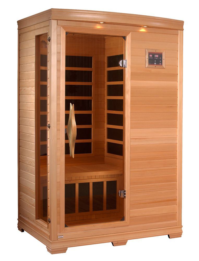 2-Person Far Infrared Carbon Sauna with 7 Year Warranty Chromotherapy MP3 Stereo and 2 Speakers
