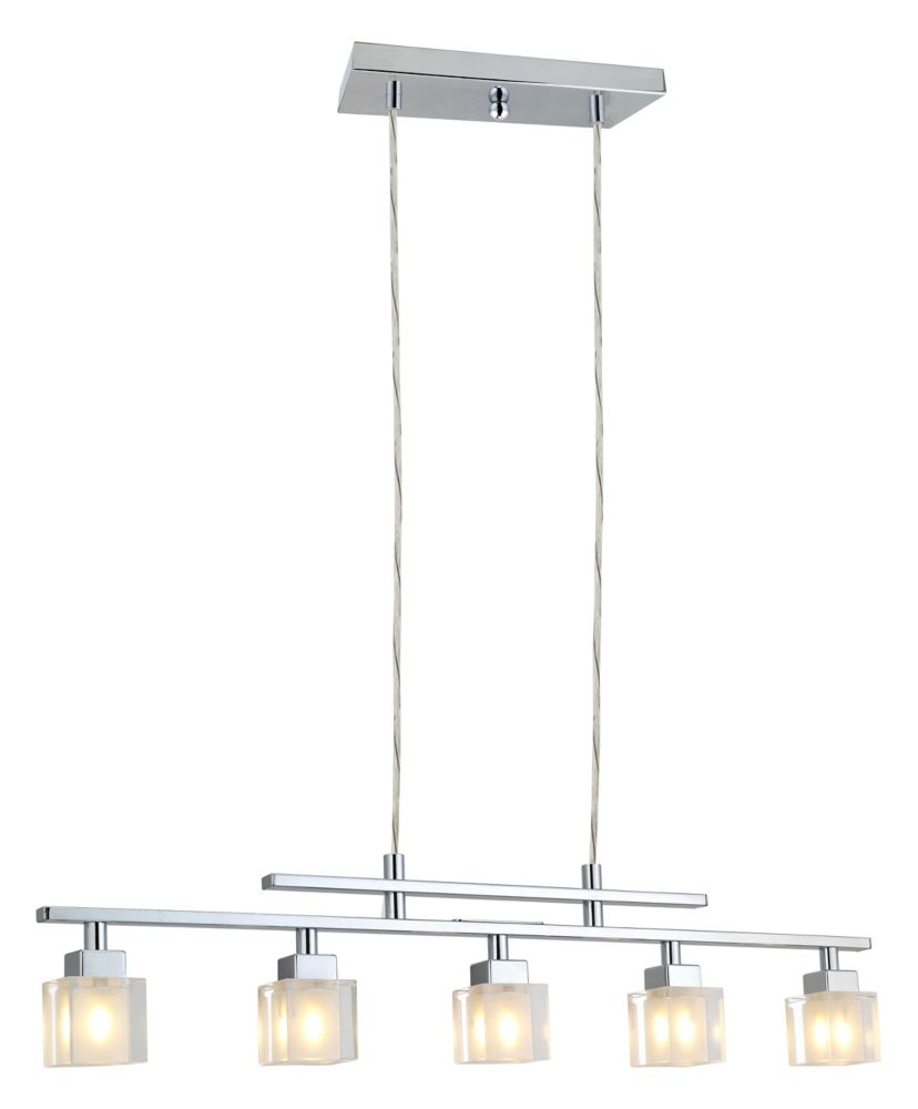 TANGA Suspension 5L, Chrome Finish with Crystal Glass