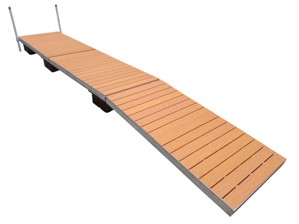 40 Feet  Lateral Dock w/Aluminum Wood Grain Decking