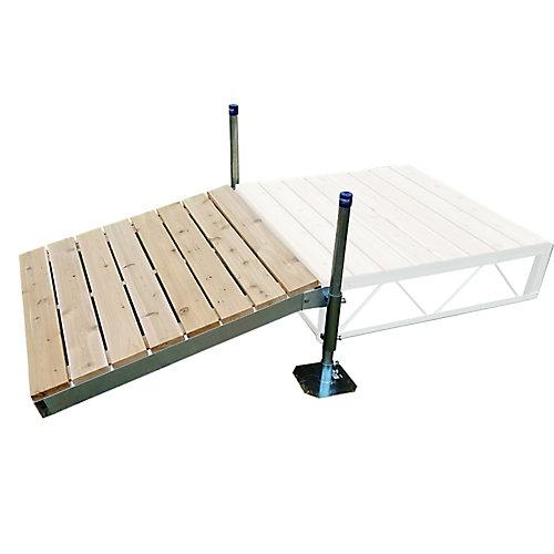 4 ft. x 4 ft. Shore Ramp Kit with Cedar Decking