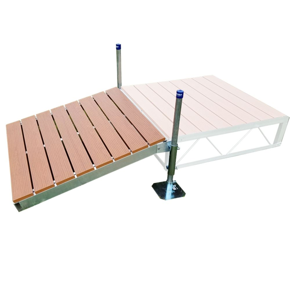 4 Feet x4 Feet  Shore Ramp Kit With Aluminum Deck