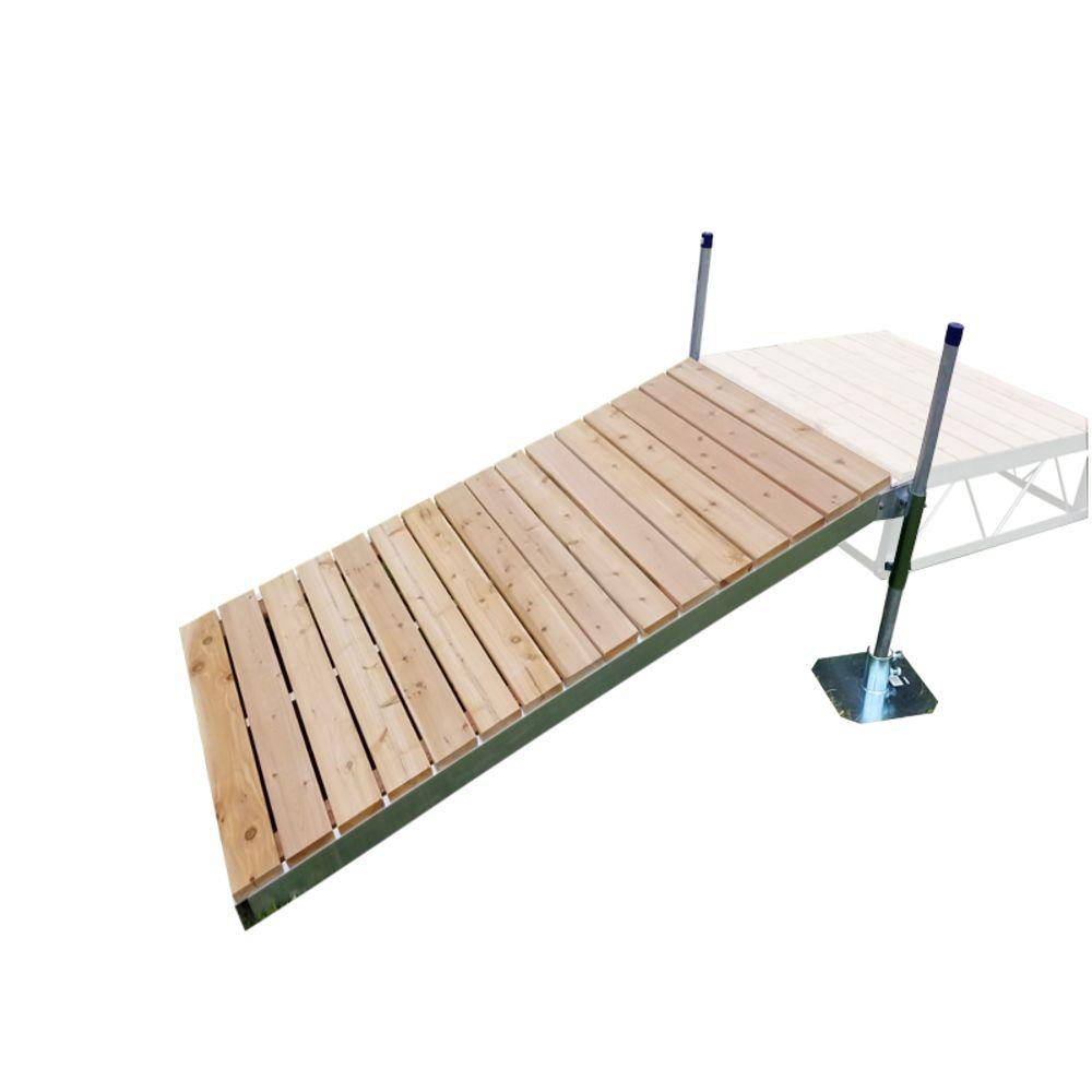 4 Feet x8 Feet  Shore Ramp Kit With Cedar Decking