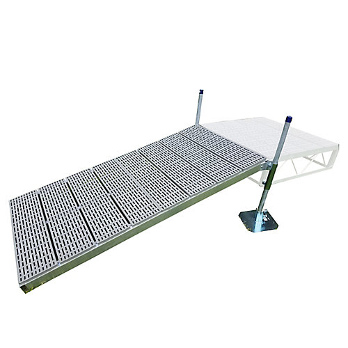 4 ft. x 8 ft. Shore Ramp Kit with Poly Decking