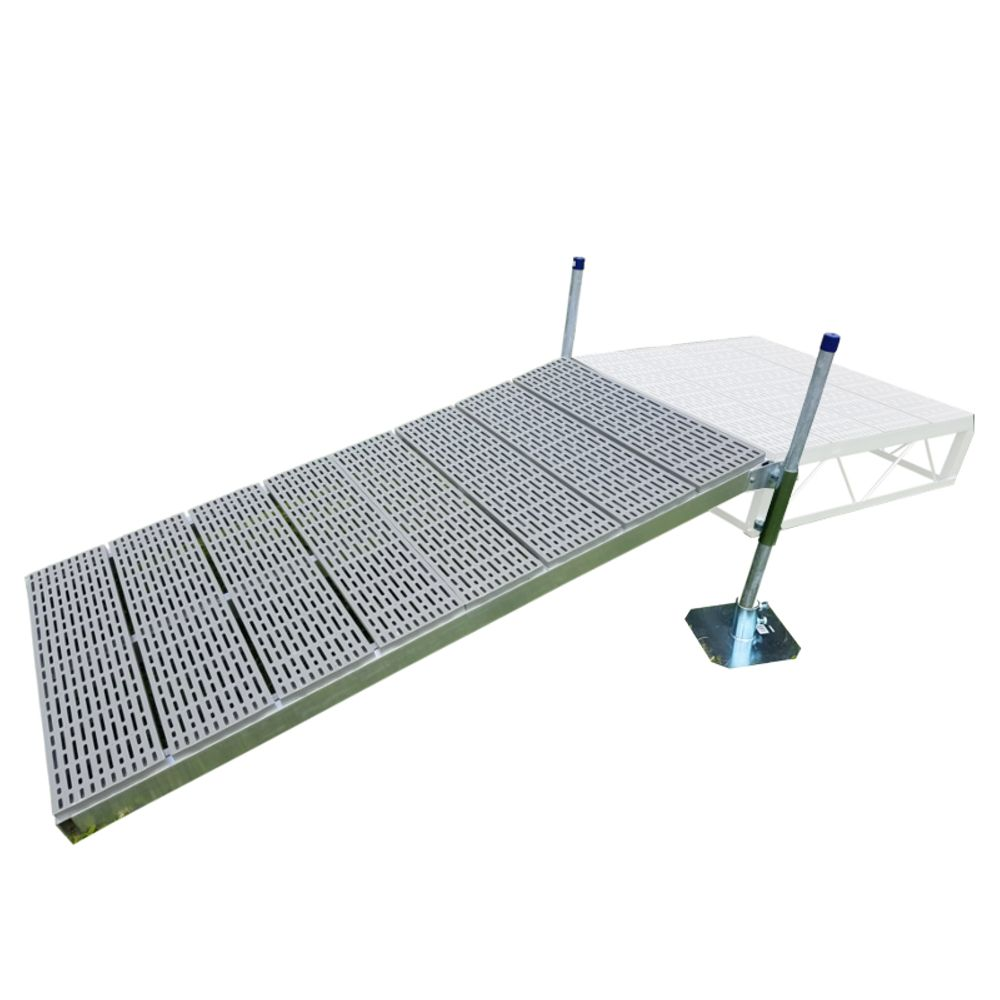 Patriot Docks 4 ft. x 8 ft. Shore Ramp Kit with Poly Decking