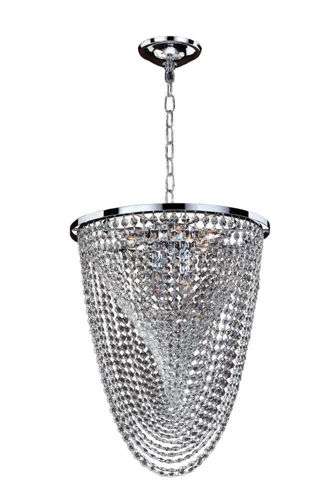 Veranda 8-Light Ceiling Silver Pearl Pendant