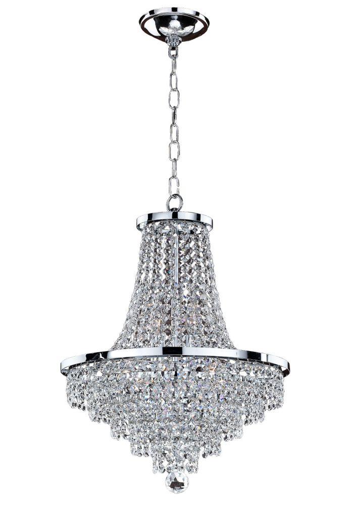 Glow Lighting Vista 8-Light Chrome and Crystal Incandescent Chandelier