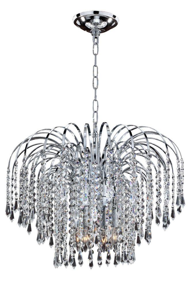 Veranda 6-Light Ceiling Silver Pearl Pendant