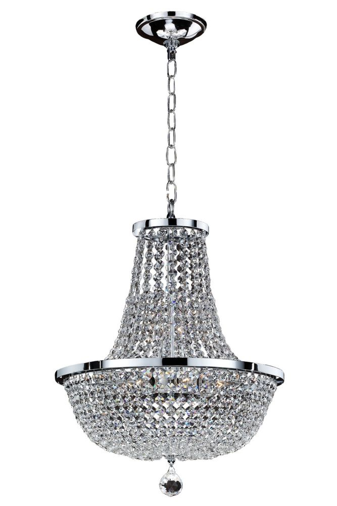 Veranda 8 Light Ceiling Silver Pearl Incandescent Pendant